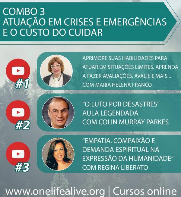 Combo 3 Atuação em crises e emergências e o custo do cuidar